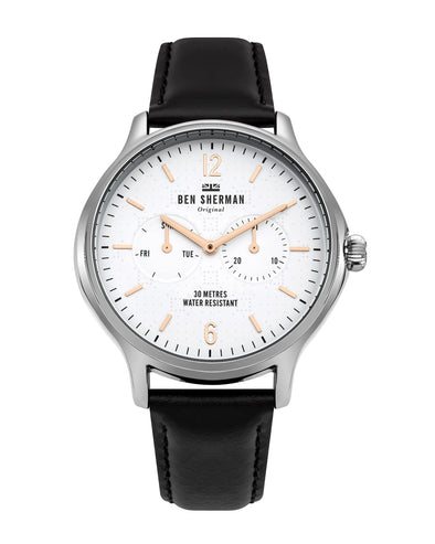 Men's Kensington Professional Watch - Black/White/Silver