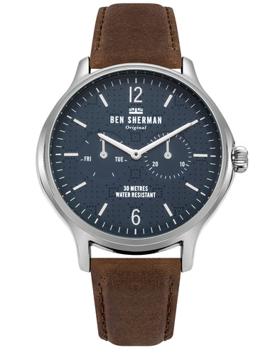 Men's Kensington Professional Watch - Brown/Navy/Silver