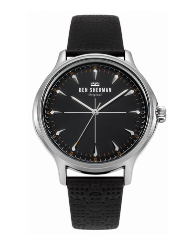 Men's Kensington Heritage Watch - Black/Black/Silver