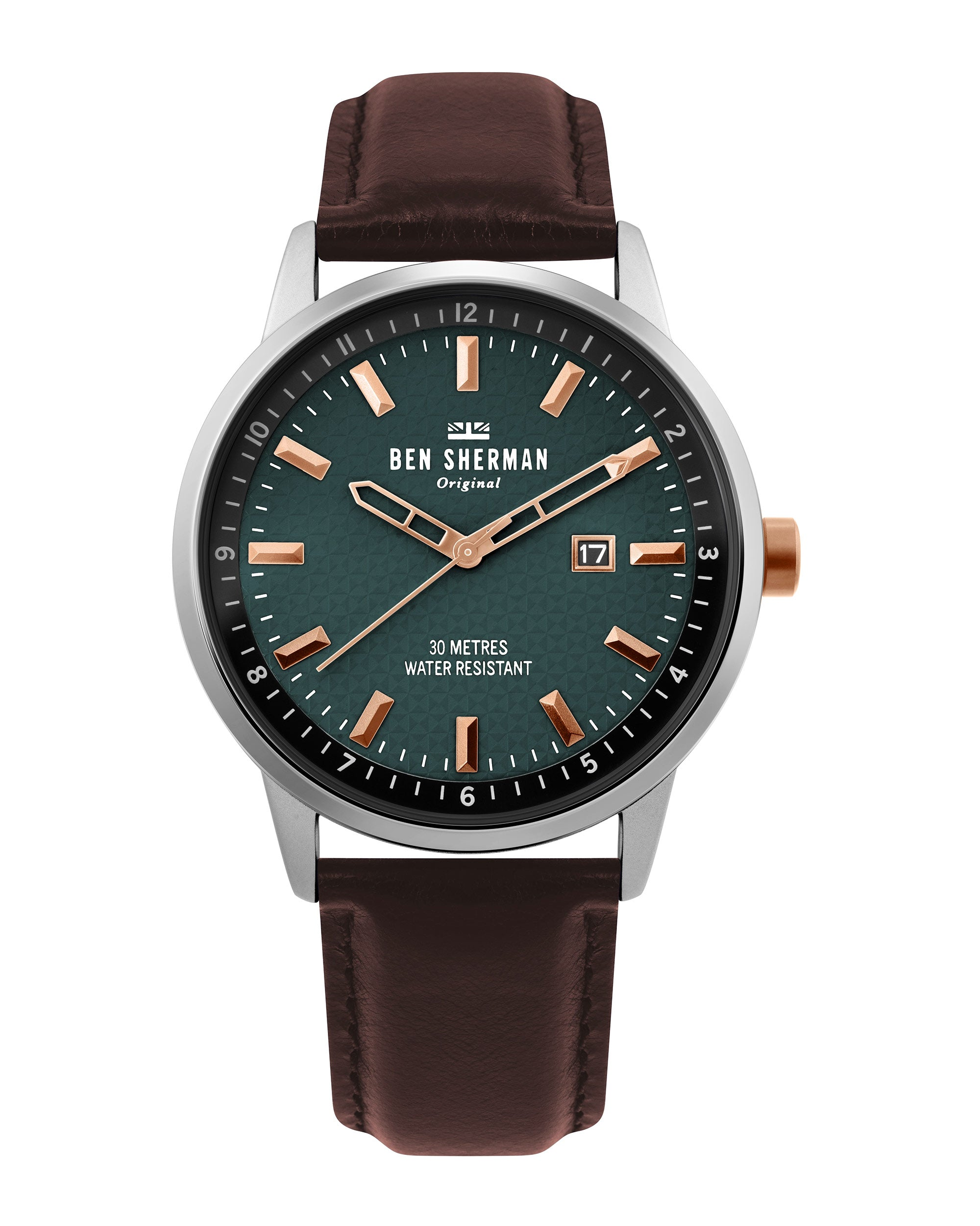Men's Daltrey Professional Watch - Brown/Green/Silver