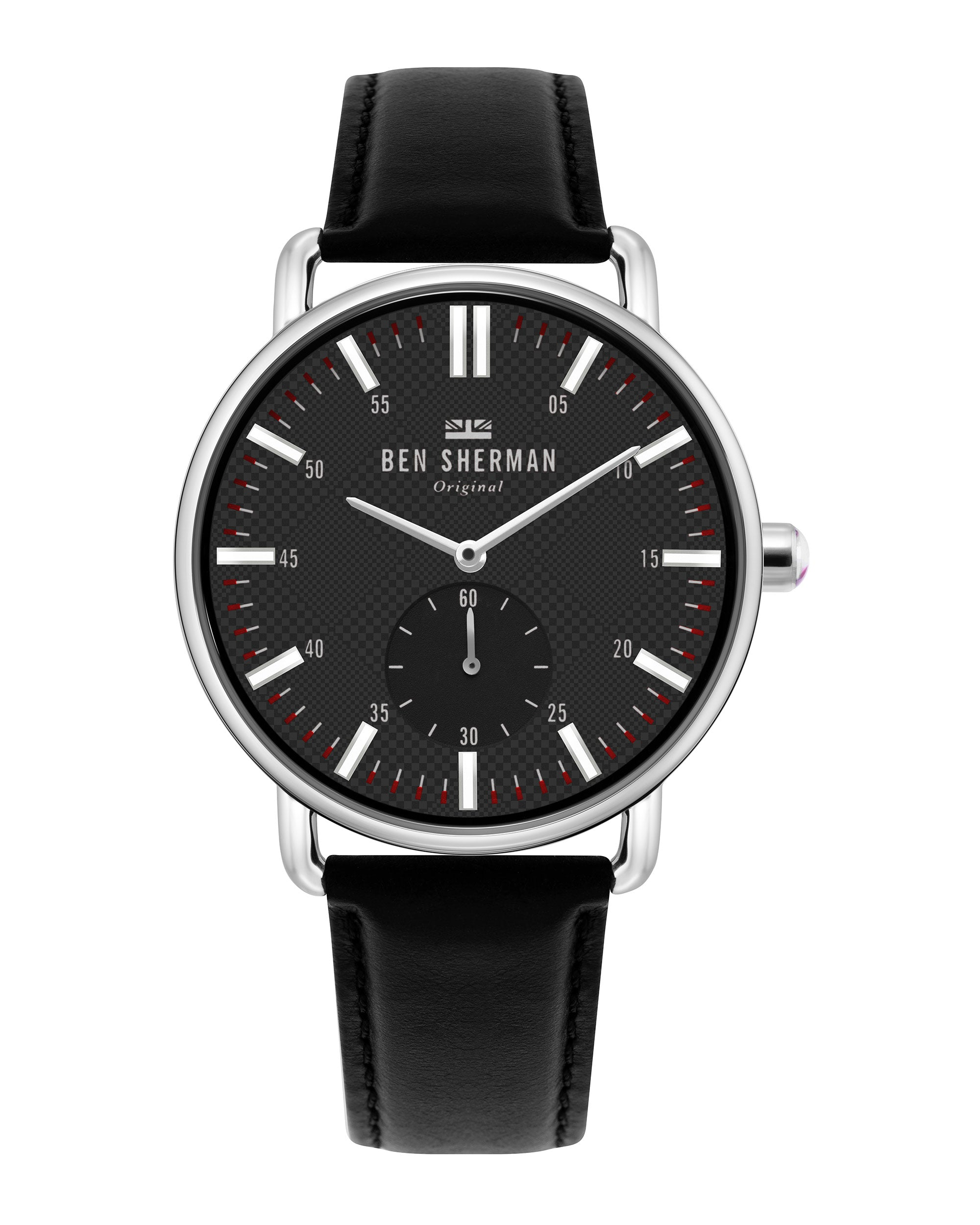 Men's Brighton City Watch - Black/Black/Silver