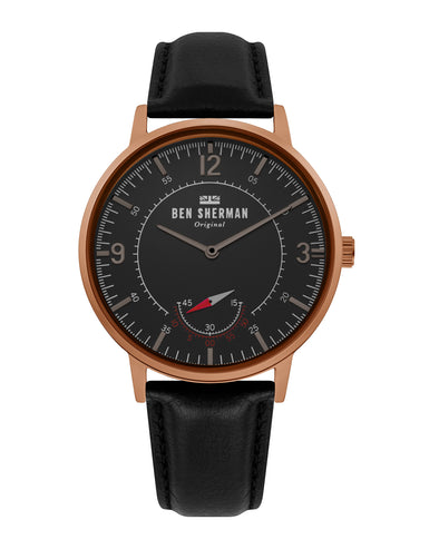 Men's Portobello Heritage Watch - Black/Black/Brown