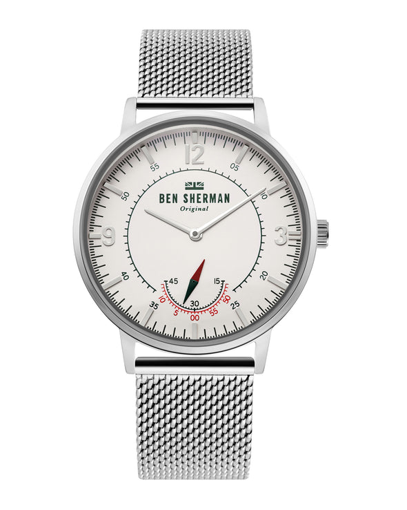 Men's Portobello Heritage Watch - Silver/White/Silver