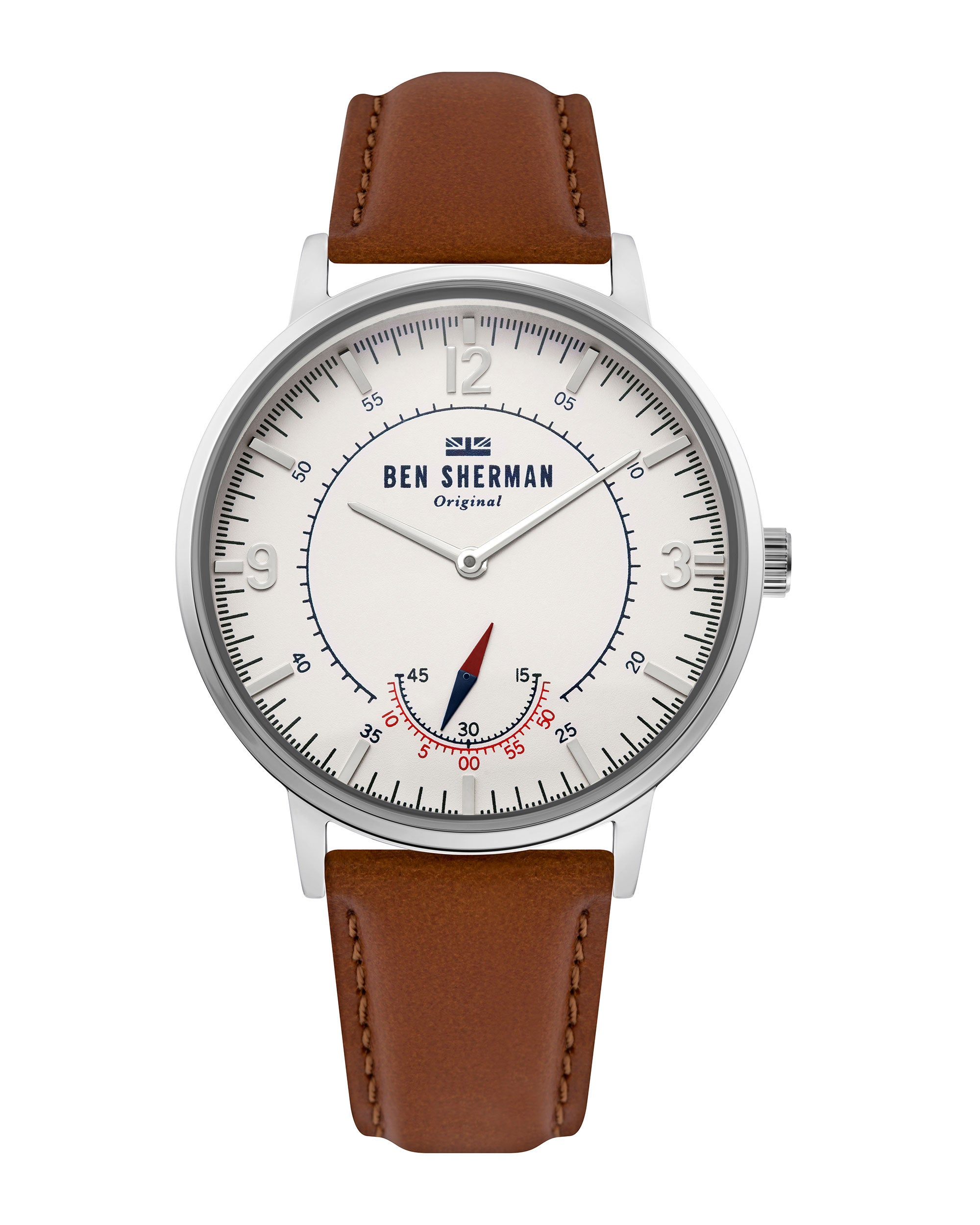 Men's Portobello Heritage Watch - Brown/Off-White/Silver