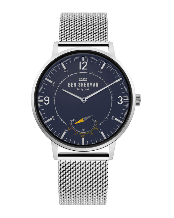 Men's Portobello Heritage Watch - Silver/Blue/Silver