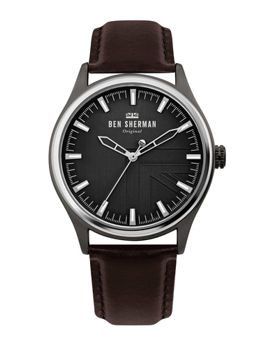 Men's Harrison Original Watch - Brown/Charcoal Grey/Silver