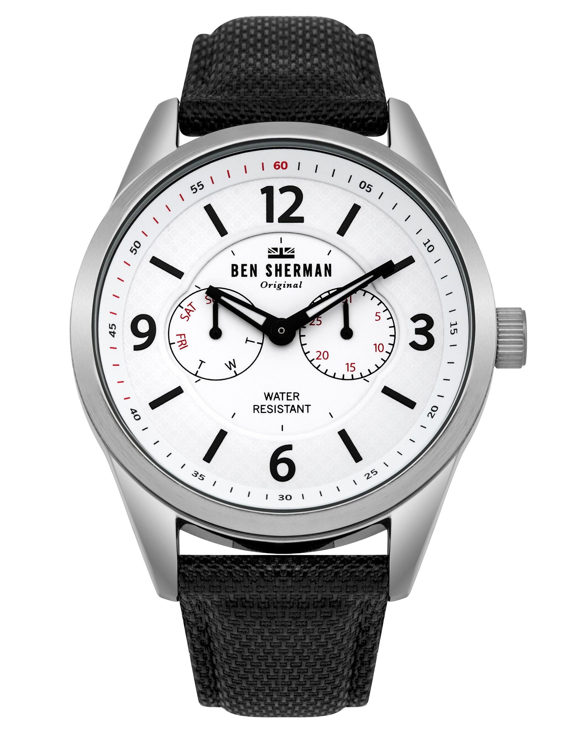 Men's Big Carnaby Utility Watch - Black/White/Silver
