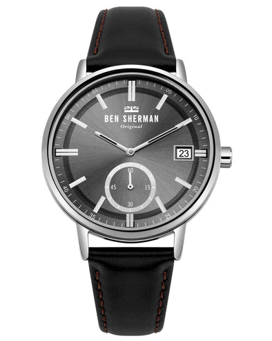 Men's Portobello Professional Watch - Black/Black/Silver
