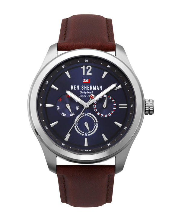 Men's Sugarman Multifunction Watch - Tan/Navy/Silver