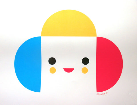 "FriendsWithYou Silkscreen Print: ""Rainbow King"""
