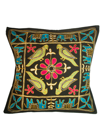 Embroidery Work Cushion Cover - Single Piece