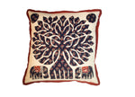 "Patch Work Cushion Cover with ""Tree of Life"" Design - Set of 5"