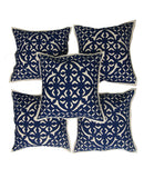 Applique Work Cushion Cover - Set of 5