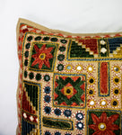 Embroidery and Mirror Work Cushion Cover - Single Piece