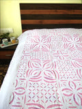 Applique Work Cotton Bed Cover - Double Bed