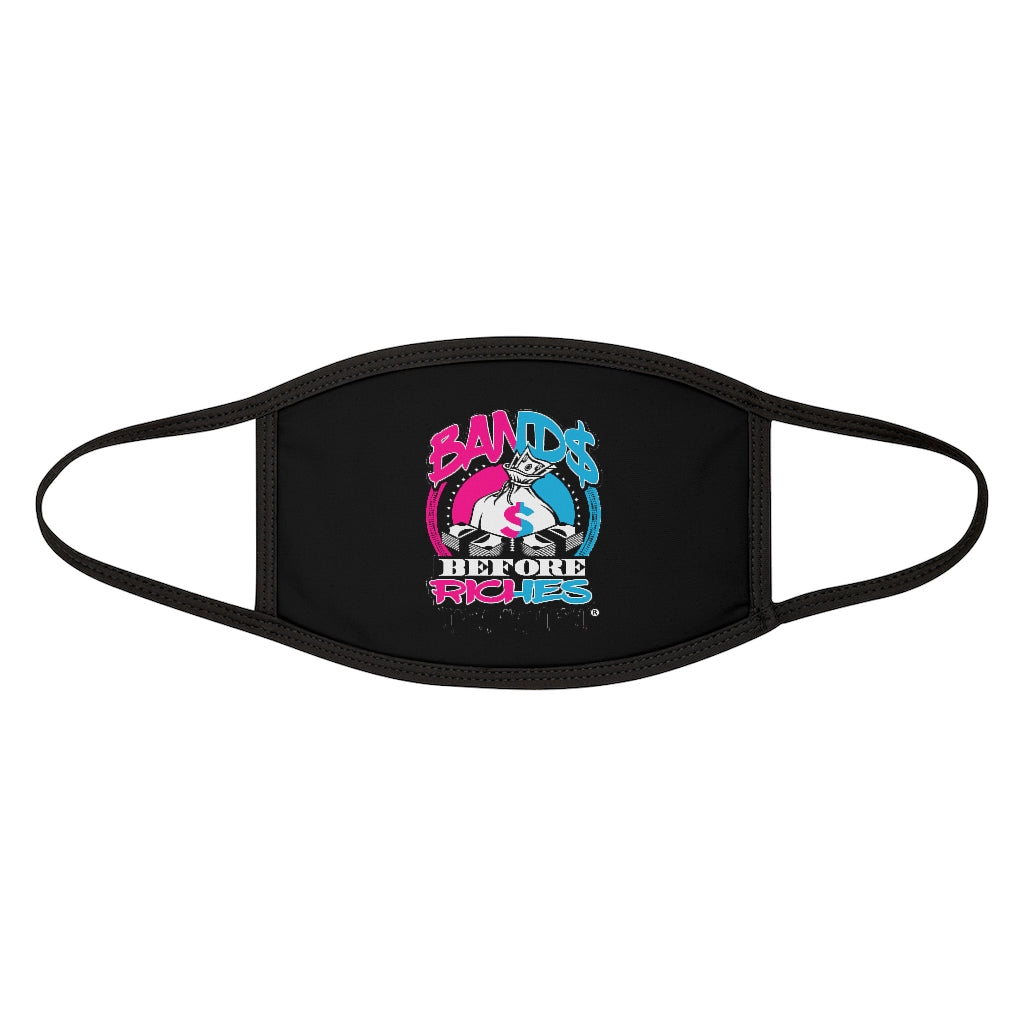 Bands Mixed-Fabric Face Mask