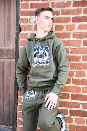 Screen Print Money Bag Jogger Hoodie  Set UNISEX