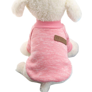 Classic Dog Clothes Warm Puppy Outfit Pet Jacket Coat Winter Dog Clothes Soft Sweater Clothing For Small Dogs Chihuahua noDC5