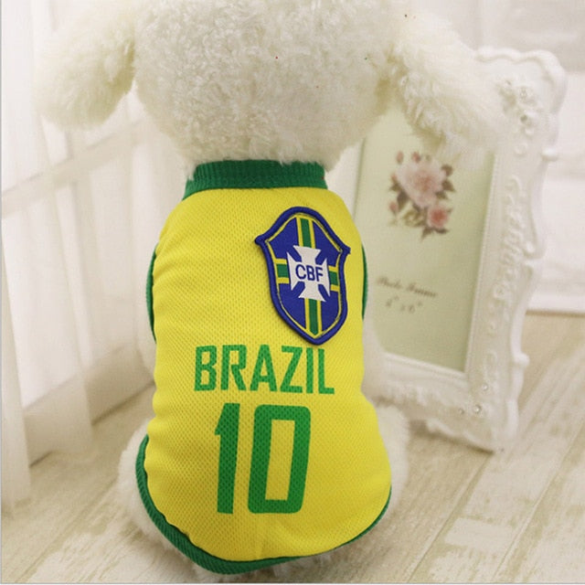 Dog Clothes For Small Medium Large Dogs Sports Dog Vest Cat Shirt Pet Clothing Summer Cotton Sweatshirt Football Jersey  XS-4XL