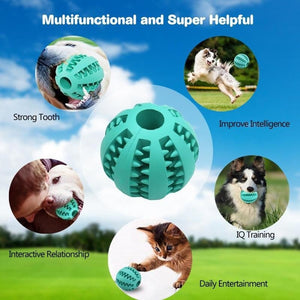 Newest Rubber Ball Chew Pet Dog Puppy Cat Training Dental Toy