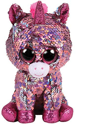 TY Beanie Boos 15cm Sequin Unicorn Chihuahua Sloth Bird Dog Cat Fox Owl Dragon Plush Toy Big EyeStuffed Animal Soft Toy Kid Gift