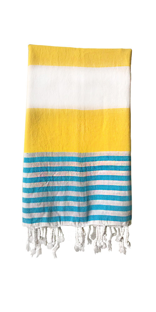 Hand-woven 100% Cotton Turkish Towel - Marine Yellow