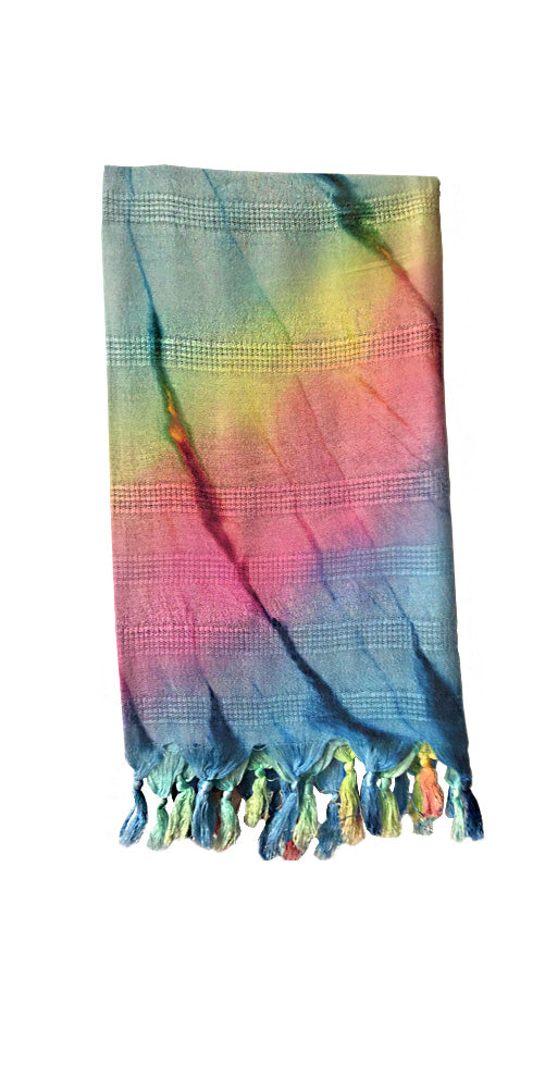 70% Bamboo, 30% Cotton, Turkish Towel - Colorful