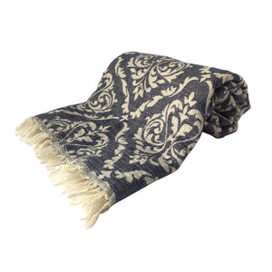 Hand-woven 100% Cotton Turkish Towel Scarf - Sultan Grey