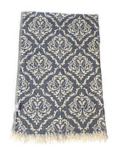 Load image into Gallery viewer, Hand-woven 100% Cotton Turkish Towel Scarf - Sultan Grey