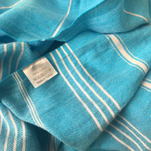 Load image into Gallery viewer, Hand-woven 100% Cotton Turkish Towel - Blue