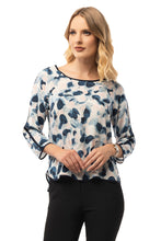 Load image into Gallery viewer, Casual Blue Blouse - 3/4 Sleeve