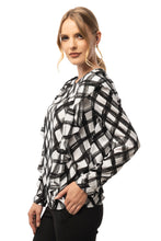 Load image into Gallery viewer, Two Side Ruffle Detailed Plaid Blouse - Long Sleeve