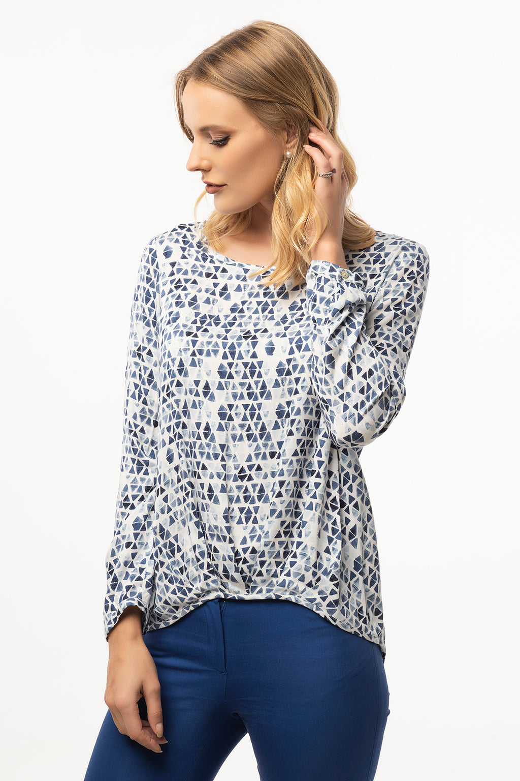 Casual Blue Blouse