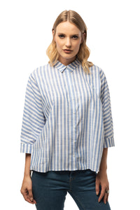 Casual Marine Shirt - 3/4 Sleeve