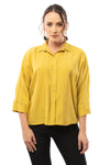 Casual Yellow Shirt - 3/4 Sleeve