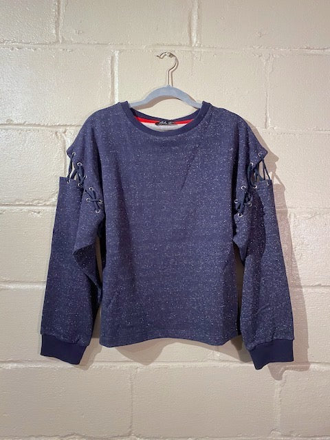 Silvery Sweatshirt in Navy Blue