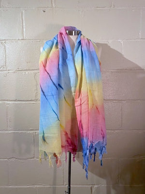 Hand-woven 70% Bamboo, 30% Cotton Turkish Towel, Scarf - Colorful