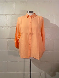 Casual Orange Shirt 3/4 Sleeve