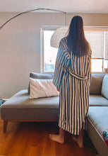 Load image into Gallery viewer, Black Stripe Robe