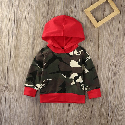 Red Camo Hooded