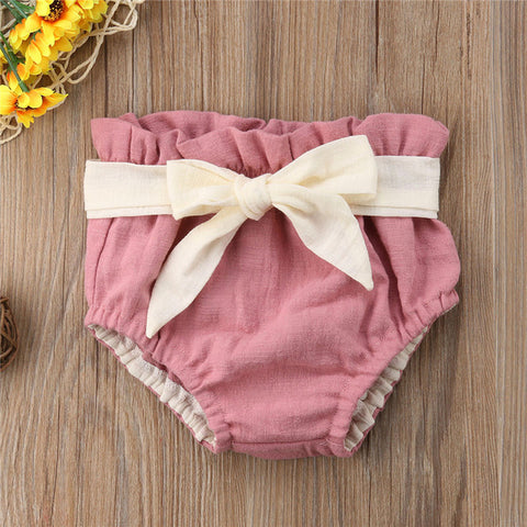 Bowknot Shorts, Newborn Clothes, Baby Clothing
