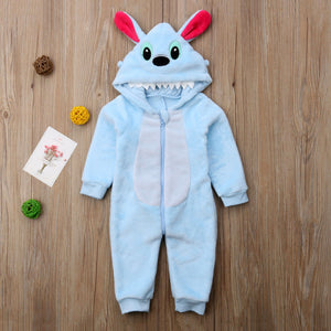 Stitch Hooded Romper