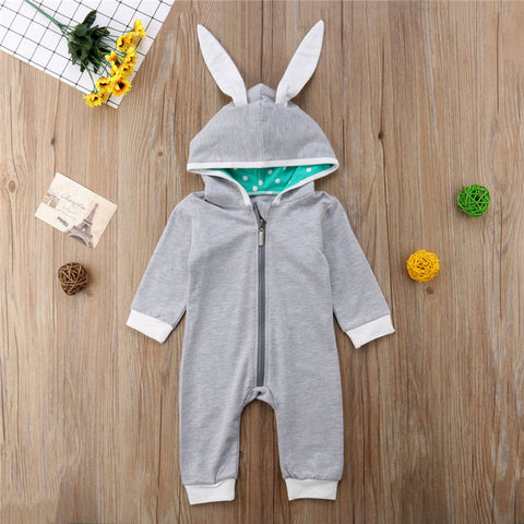 Gray Rabbit Romper