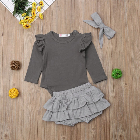 3Pcs Ruffles Set