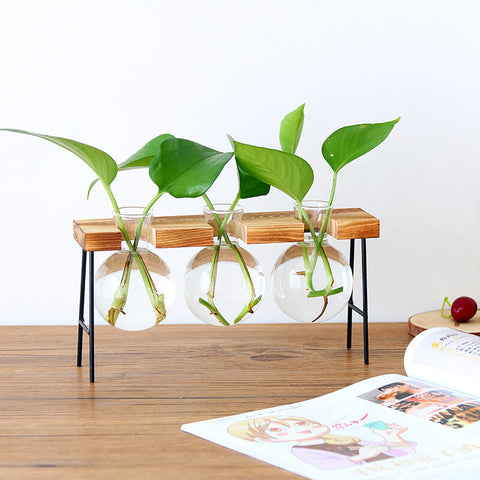 Wooden-Frame-Hydroponic-Planter-Decor-Type-C-Set