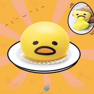 Funny Puking Egg Yolk Stress Ball (With Yellow Goo)