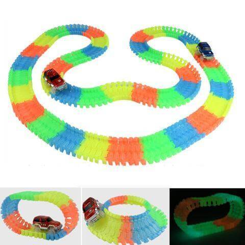 Glowing Car Racing Set (MOST COLORFUL TOY SHINING IN THE DARK!!!!)