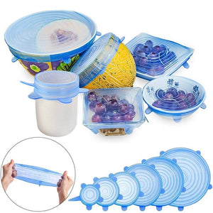 Silicone Stretch Lids 6 PCS SET