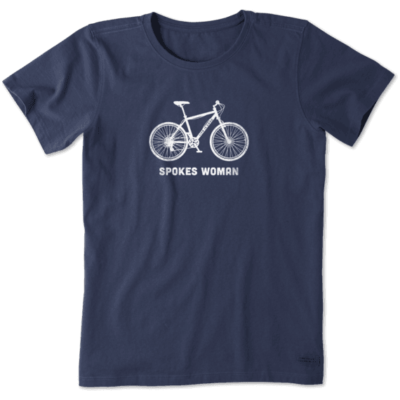 Life Is Good Spokes Crusher V-Neck Womens