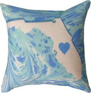 Manual marble States Pillow